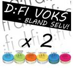 2 stk. D:fi voks - Bland selv (80,- pr. stk)